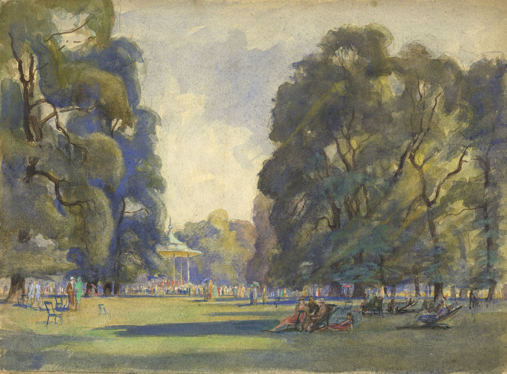 CH Barraud, Kensington Gardens - Original early 20th-century watercolour