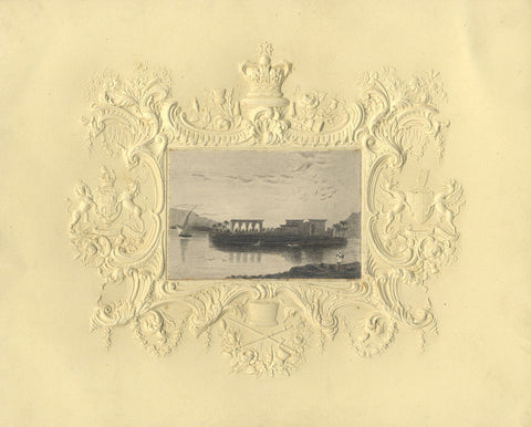 Ruins on the Nile - Original early 19th-century graphite drawing