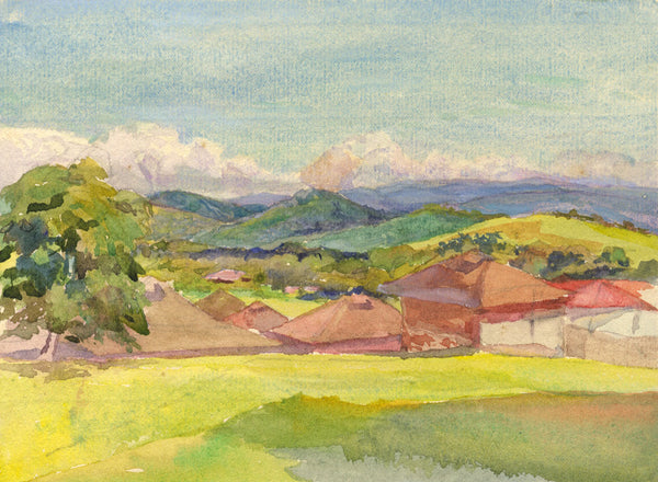 William Pretyman, Towards Colombian Mountains, Panama -1912 watercolour painting