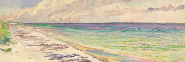 William Pretyman, Clouds Rolling Seaward, Florida - 1912 watercolour painting