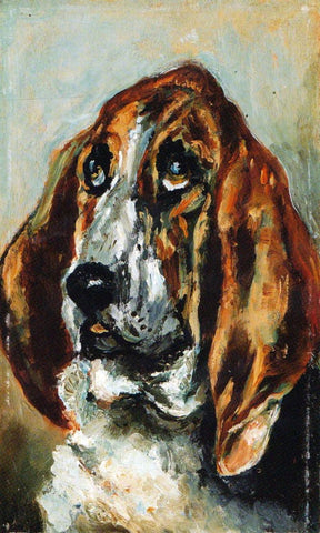 Head of Bloodhound by Toulouse Lautrec