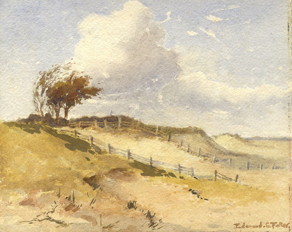 Edmund G. Fuller, Sand Dunes - Original early 20th-century watercolour painting