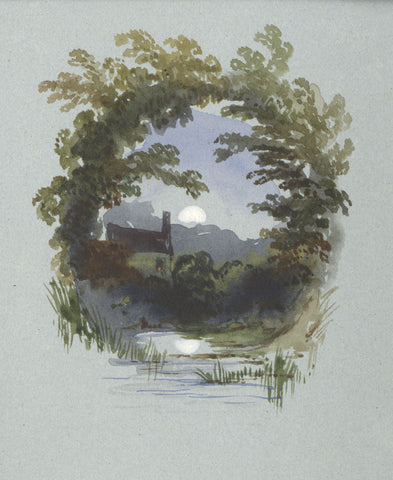Joseph Horlor, Cottage Vignette - Original 19th-century watercolour painting