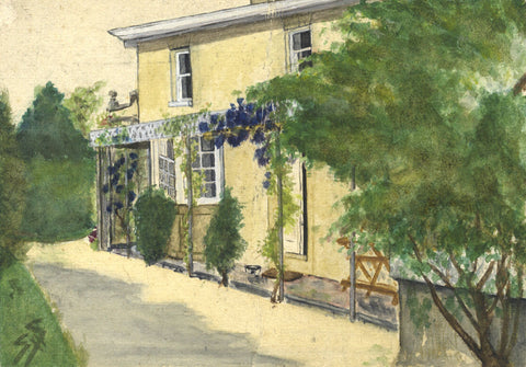 SHS, House, Romanhurst - Original early 20th-century watercolour painting