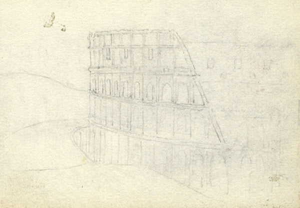 Mary Temple Moore, Colosseum - Original 1903 graphite drawing