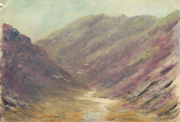 Moorland, Scotland - Original early 20th-century oil painting