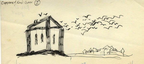 Paul Hogarth, Kings Lynn, Norfolk - Original 1961 pen & ink drawing