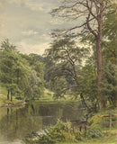 Frederick George Reynolds, Lake Chesterfield - Original 19th-century watercolour painting