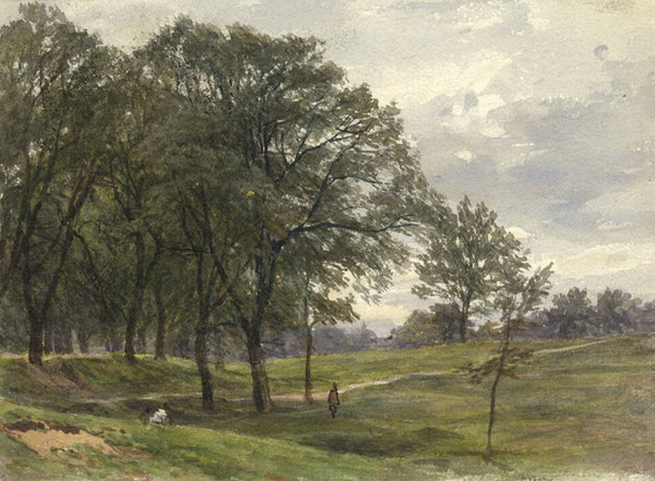 F.G. Reynolds, Hampstead Heath - Original 19th-century watercolour painting