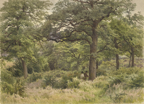 F.G. Reynolds, Highgate Wood - Original 19th-century watercolour painting