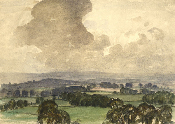Myles Tonks, English Skies - Original early 20th-century watercolour painting