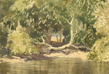 Myles Tonks, Llugwy, North Wales - Original 1944 watercolour painting