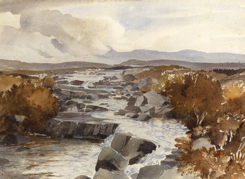 Myles Tonks, Snowdonia, Wales - Original early 20th-century watercolour painting