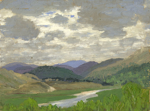 Myles Tonks, Landscape with Hills - Original early 20th-century oil painting