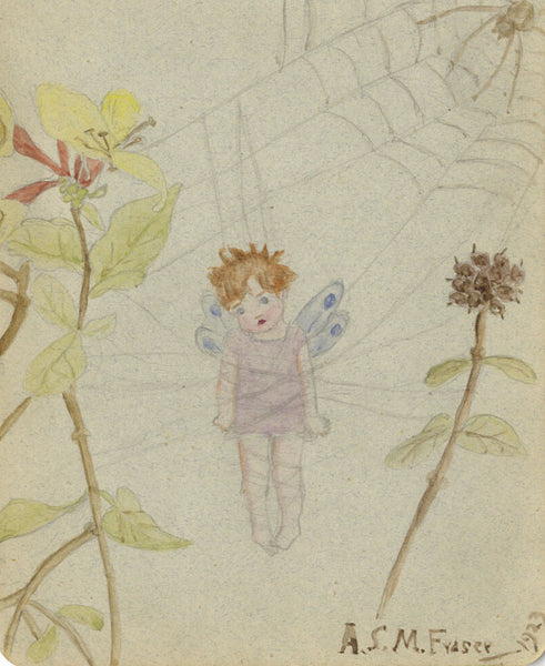 A.S.M. Fraser, Fairy - Original 1923 watercolour painting