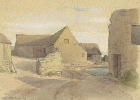 Farm, Worth Matravers, Dorset - Original 1934 watercolour painting
