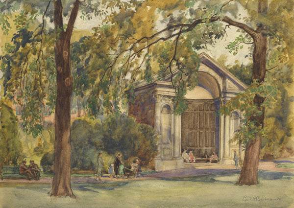 CH Barraud, Kensington Gardens - Original early 20th-century watercolour painting
