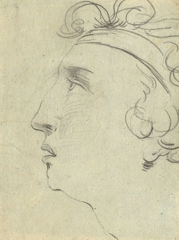 Portrait Profiles - Original early 19th-century charcoal drawing