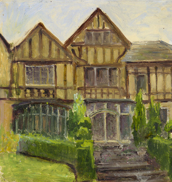 Eva Walbourn, Tudor Manor - Original early 20th-century oil painting