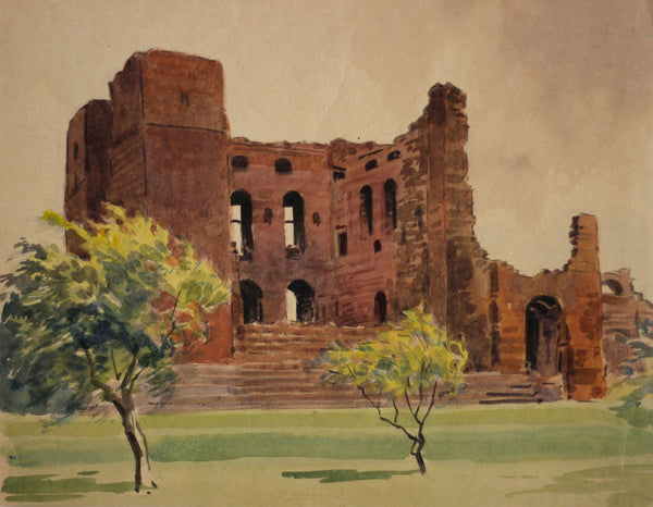 Harry Riley, Kenilworth Castle - Original mid-20th-century watercolour painting