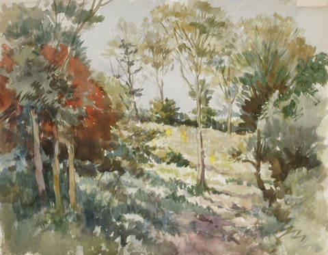 Harry Riley, Wimbledon Common - Original mid-20th-century watercolour painting
