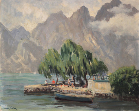 Harry Riley RI, Lake Garda, Italy - Original mid-20th-century oil painting