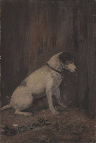 Style of Samuel Fulton, A Jack Russell - Original late 19th-century oil painting