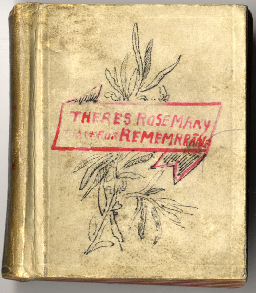 A.S. Kynnersley, Rosemary for Remembrance - Original 1892 small inscribed book
