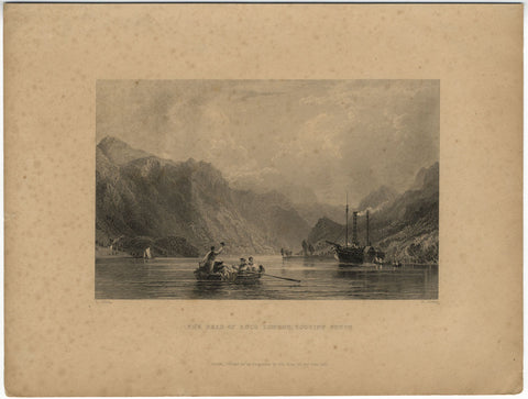 H. Jordan after T. Allom, The Head of Loch Lomond - Original 1835 engraving print