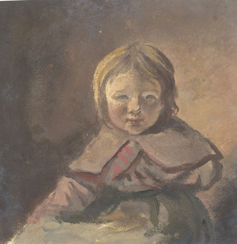 Portrait of a Young Girl - Original early 19th-century oil painting