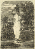 A. Hunter, Indian Lady Carrying a Pot - Original early 19th-century etching print