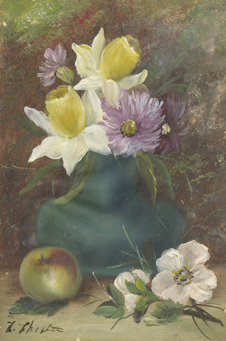 E. Chester, Still Life with Daffodils - Original early 20th-century oil painting