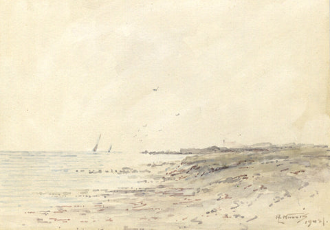 Arthur Harris, East Haven, Near Carnoustie - Original 1902 watercolour painting