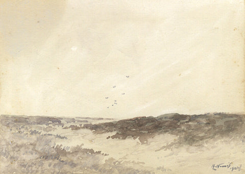 Arthur Harris, Tentsmuir Sand Dunes, Fife - Original 1902 watercolour painting