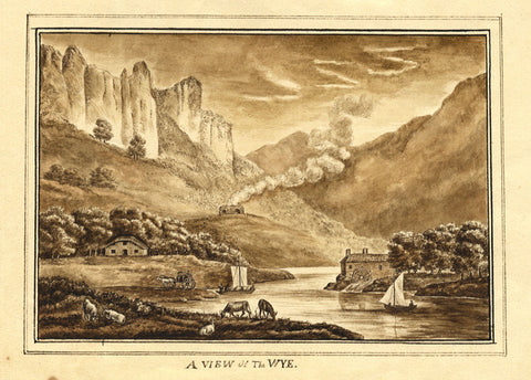 A View of the Wye - Original 19th-century watercolour painting
