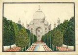Taj Mahal Front Indian Miniature Company Painting - Original 19th-century watercolour