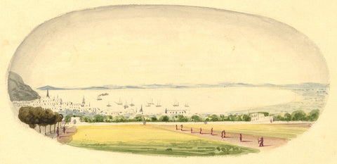 Table Bay, Cape of Good Hope - Original 19th-century watercolour painting