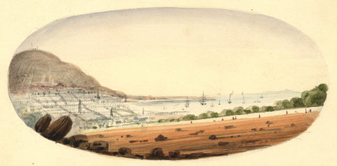 Cape Town, South Africa - Original 19th-century watercolour painting