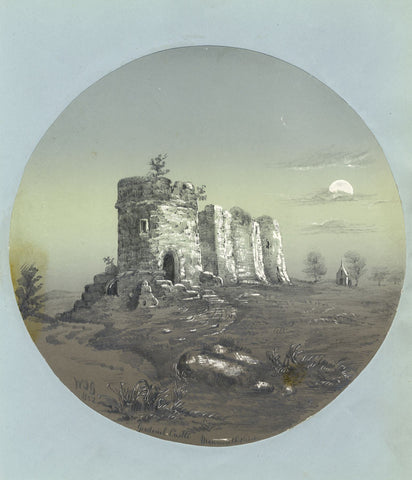 W.J.G., Goodrich Castle, Monmouthshire - Original 1852 graphite drawing