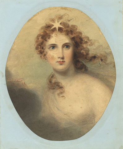 Aurora, Goddess of Dawn - Original 19th-century watercolour painting
