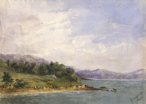 F.C. Tottie, Glengarriff Bay, County Cork  - Original 1846 watercolour painting
