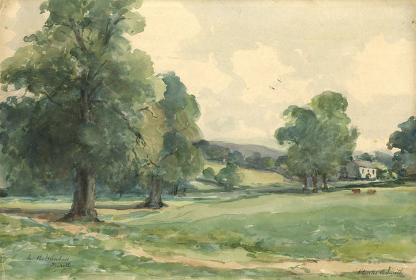 Charles A. Smith, In the Meadows, Penrith - Original early 20th-century watercolour painting