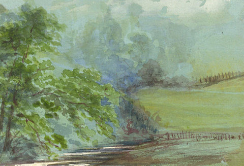 River View Miniature - Original early 20th-century watercolour painting