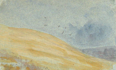 Sand Dunes Miniature - Original early 20th-century watercolour painting