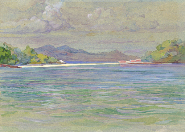 William Pretyman, Taboga Island Sanitarium off Panama - Original 1912 watercolour painting