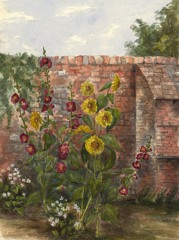 Corner of Red House, Sproughton, Ipswich - Original 1892 watercolour painting