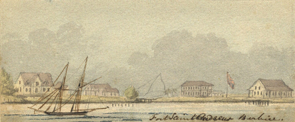Charles William Day, Berbice, Guyana - Early 19th-century watercolour