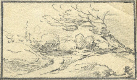 Attrib. Thomas Hearne, Miniature Landscape -Early 19th-century graphite drawing