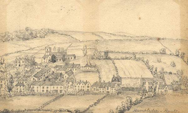 B. Stanton, Hambledon Village, Hampshire -Original 19th-century graphite drawing