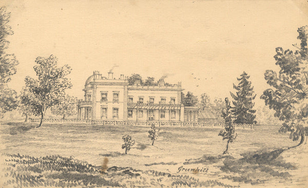 B. Stanton, Greenhill House, Sutton Veny, Wilts - 19th-century graphite drawing